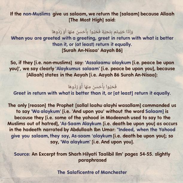 Replying to Non-Muslims When They Greet Us Saying, 'Assalaamu Alaykum' – [By Shaikh Uthaymeen (rahimahullaah)]