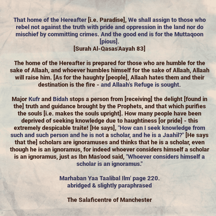 [57] Excerpts from Shaikh Rabee's Book Titled 'Marhaban Yaa Taalibal Ilm' – [The One Whose Haughtiness And Ignorance Led Him to Say That The Scholars Are Ignorant]