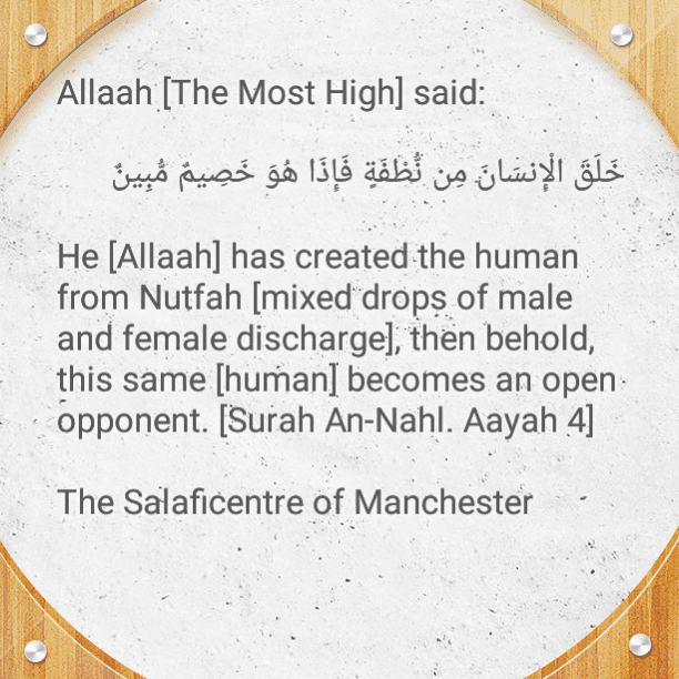 [15] Self-scrutiny: Created From Drops of Male and Female Discharge, Yet He Becomes An Open Opponent of His Creator- [Brief Admonitions By Imaam Ibnul Jawzi, Imaam As-Sadi and Imaam Ash-Shanqeetee (rahimahumullaah)] [PDF 3 Pages]