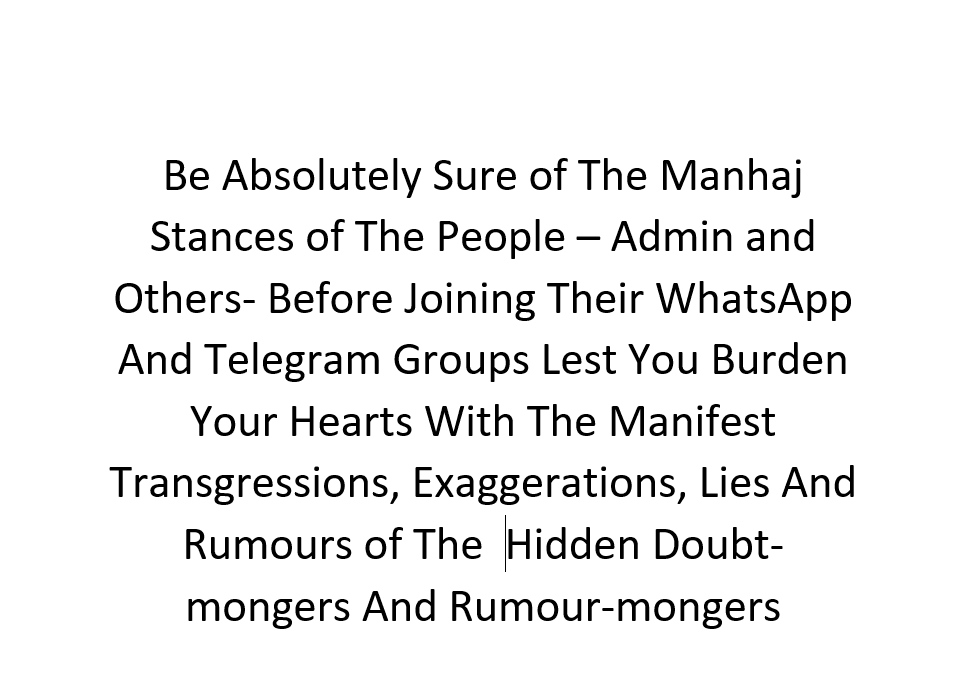 Caution- [Rumour-mongers and Doubt-mongers Hide In WhatsApp and Telegram Groups]