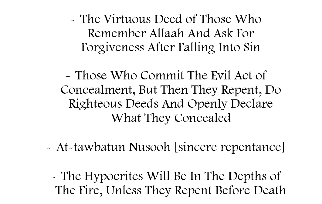 Some of The Virtues of Repentance After Committing Sins