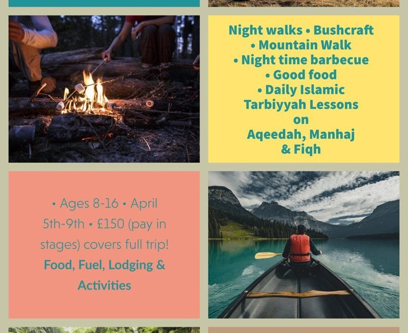 Announcing: Children's Outdoor Adventure Trip – Excellent Spring Initiative with A Trip, Islamic Tarbiyyah and Life Skills!