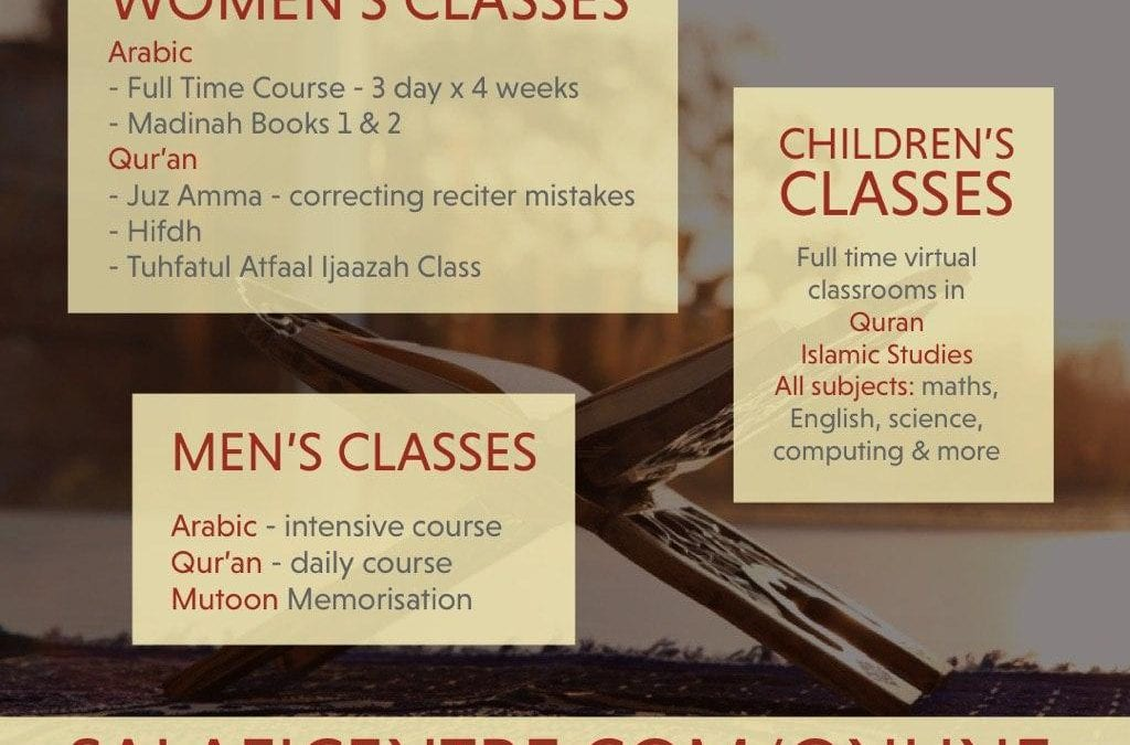 Salaficentre Online Virtual Classroom Services during the COVID19 Lockdown